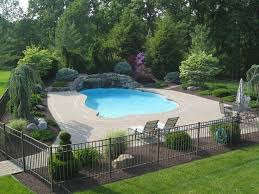 40 Example Of Swimming Pool Garden Design Ideas To Inspire You 00112 Bobayule Co In 2020 Swimming Pool Landscaping Inground Pool Landscaping Pool Fencing Landscaping