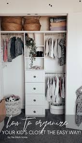 Diy Kid S Closet Organization The Blush Home