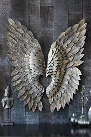 metallic wings angel wings wall art