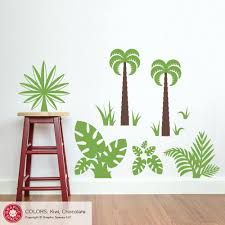 Jungle Plants Wall Decal Pack Dinosaur Safari Theme Wall Stickers Graphic Spaces