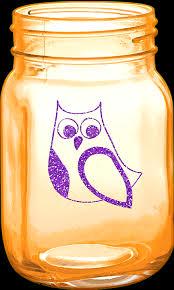 orange mason jar owl free image on
