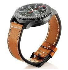 22mm genuine leather watch strap band