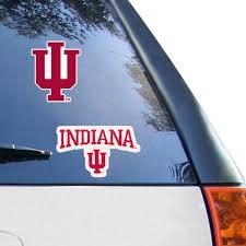Indiana University Car Decals Decal Sets Hoosiers Car Decal Lids Com