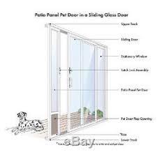 cat dog door patio panel sliding