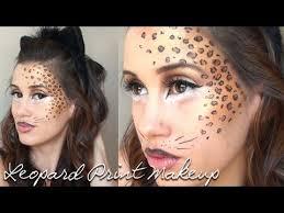 leopard print halloween makeup tutorial