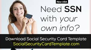 fake social security card maker ssn