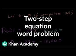 two step equation word problem