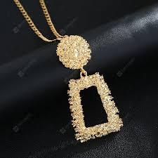 long pendant necklace gold silver color