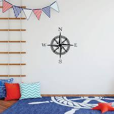 Children Compass Wall Decal Vinyl Decor Wall Decal Customvinyldecor Com