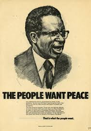 """The People want Peace"""": Poster from Bishop Abel Muzorewa in the 1979  Zimbabwe Rhodesia informing rebels about an amnesty : PropagandaPosters"""