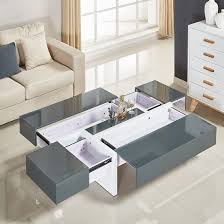 storm coffee table in grey and white