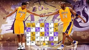 la lakers schedule april 2016 wallpaper