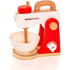 wooden make a cake mixer set play food