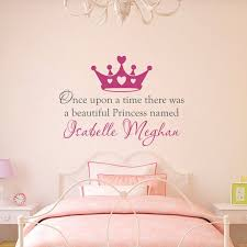 Once Upon A Time Wall Decal Personalized Name Decal Etsy In 2020 Girls Wall Decals Nursery Wall Decals Name Wall Decals