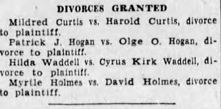 Hilda Waddell divorce from Cyrus Waddell - Newspapers.com