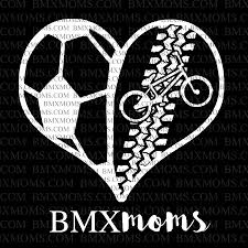 Soccer Bmx Mom Heart Car Decal Bmx Moms