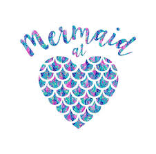 Amazon Com Pattern Mermaid At Heart Decal Sticker Mermaid Quote Vinyl Decal For Yeti Tumbler Rtic Cup Laptop Car Window Accessories For Women Blue And Pink 3 5 Inches Handmade