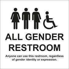 gender neutral toilet signs allsigns