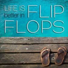 Life Live In Flip Flops Wall Art Decal Vinyl Sticker Home Decor Beach South Trip