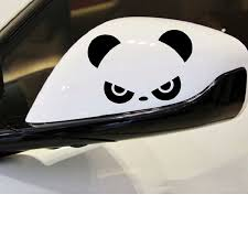 2pcs Auto Rearview Mirror Window Cover Panda Eyes Funny Vinyl Car Stickers And Decals Car Decor Accessories Window Door Decal Car Stickers Aliexpress