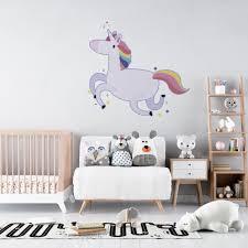 Kids Bedroom Living Room Nursery Legendary Creature Unicorn Horse Decor Design Spiraling Horn Vinyl Wall Art Decal 18 X 20 Adhesive Home Art Rainbows And Unicorns Removable Decoration Sticker Walmart Com
