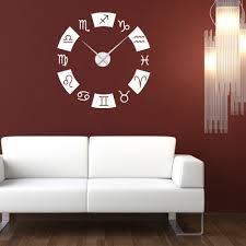 Shop Zodiac Wall Clock Vinyl Decor Wall Art Overstock 11546135