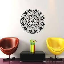 Om Symbol Wall Stickers Home Decor Mandala Indian Pattern Wall Decals Vinyl Yoga Wall Decoration Art Decals Art Decals For Walls From Moderndecal 10 57 Dhgate Com