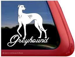 Elegant Greyhound Dog Decals Stickers Nickerstickers