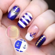 qoo10 2 sheet anchor nail stencils