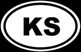 Amazon Com Kansas Ks Sticker White Oval Euro Window Vinyl Decal Die Cut Vinyl Decal For Windows Cars Trucks Tool Boxes Laptops Macbook Virtually Any Hard Smooth Surface Automotive