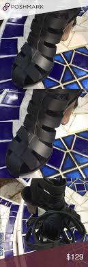VINCE wood block heels Black straps with very cool grainy wood block heel.  I literally wore them once. Vince Shoes Heels | Block heels, Heels, Vince  shoe