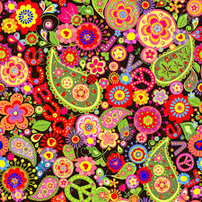 wallpaper with colorful flower print