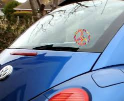 Peace Sign Vehicle Window Decal Sticker Your New Favorite Things