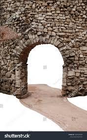 Brick Stone Arch Fence Sand Path Buildings Landmarks Stock Image 1509535952