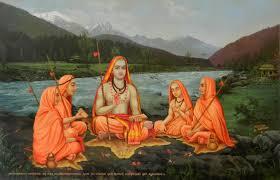 Adi Shankara With Disciples - Arsha Drishti