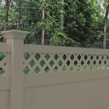 Weatherables Ashton 8 Ft H X 8 Ft W Khaki Vinyl Privacy Fence Panel Kit Pkpr Lat 8x8 The Home Depot In 2020 Vinyl Privacy Fence Privacy Fence Panels Fence Panels