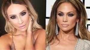 jlo golden globes makeup tutorial