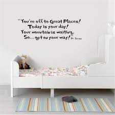 Amazon Com Unanau Room Wall Stickers Quotes You Re Off To Great Places Today Is Your Day Your Tomorrow Is Waiting So Get On Your Way For Nursery Kids Room Home Kitchen