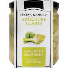 quartered marinated artichoke hearts