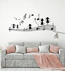 Vinyl Wall Decal Music Notes Musical Keys Kids Room Stickers Mural G1 Wallstickers4you