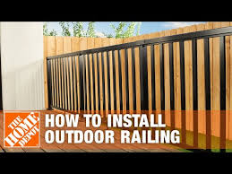 How To Install An Outdoor Aluminum Railing The Home Depot Youtube