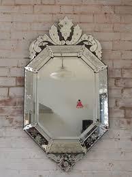 octagonal crested venetian mirror
