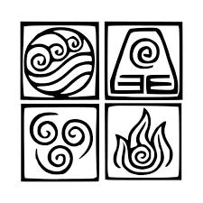 Elements Avatar The Last Airbender Vinyl Decal Sticker