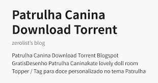 patrulha canina torrent pot zerolist s blog