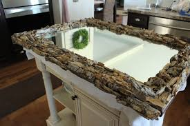 easy driftwood mirror the wood grain