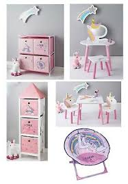 Kids Home Bedroom Unicorn Furniture Sets Vanity Set Table Chair Set Storage Ebay