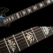 Garcia White Silver Fret Markers Inlay Sticker Decal Guitar