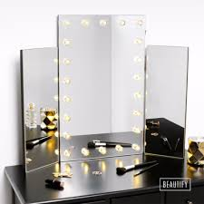 trifold hollywood makeup dressing table