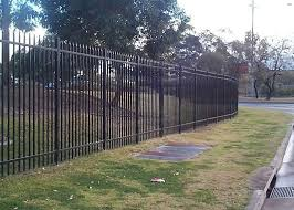 Security Steel Tube Fence Panels Galvanised Tubular Fencing With 25mm Tube Diameter