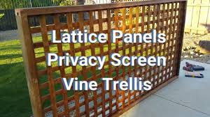 How To Make Lattice Panels Privacy Screens Vine Trellis Youtube